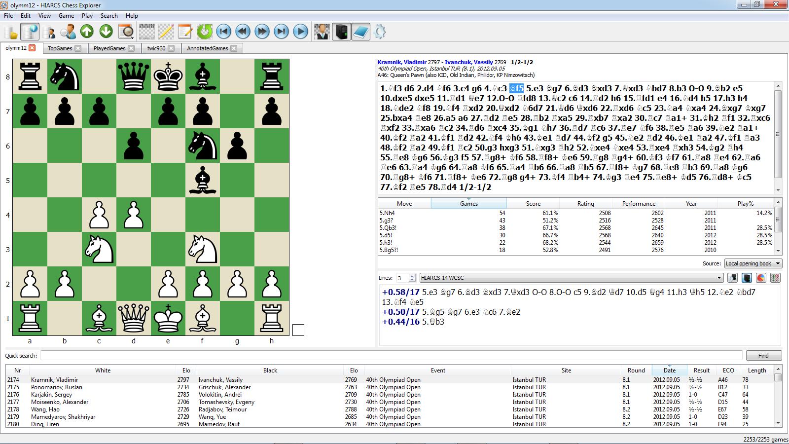 Zarkon Fischer's Guide to Chess Software - HIARCS Chess
